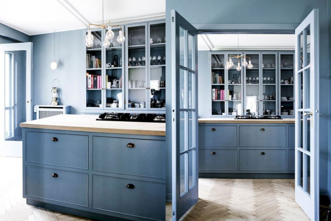 16 Charming Blue Kitchen Designs | Blue kitchen designs, Kitchen ...