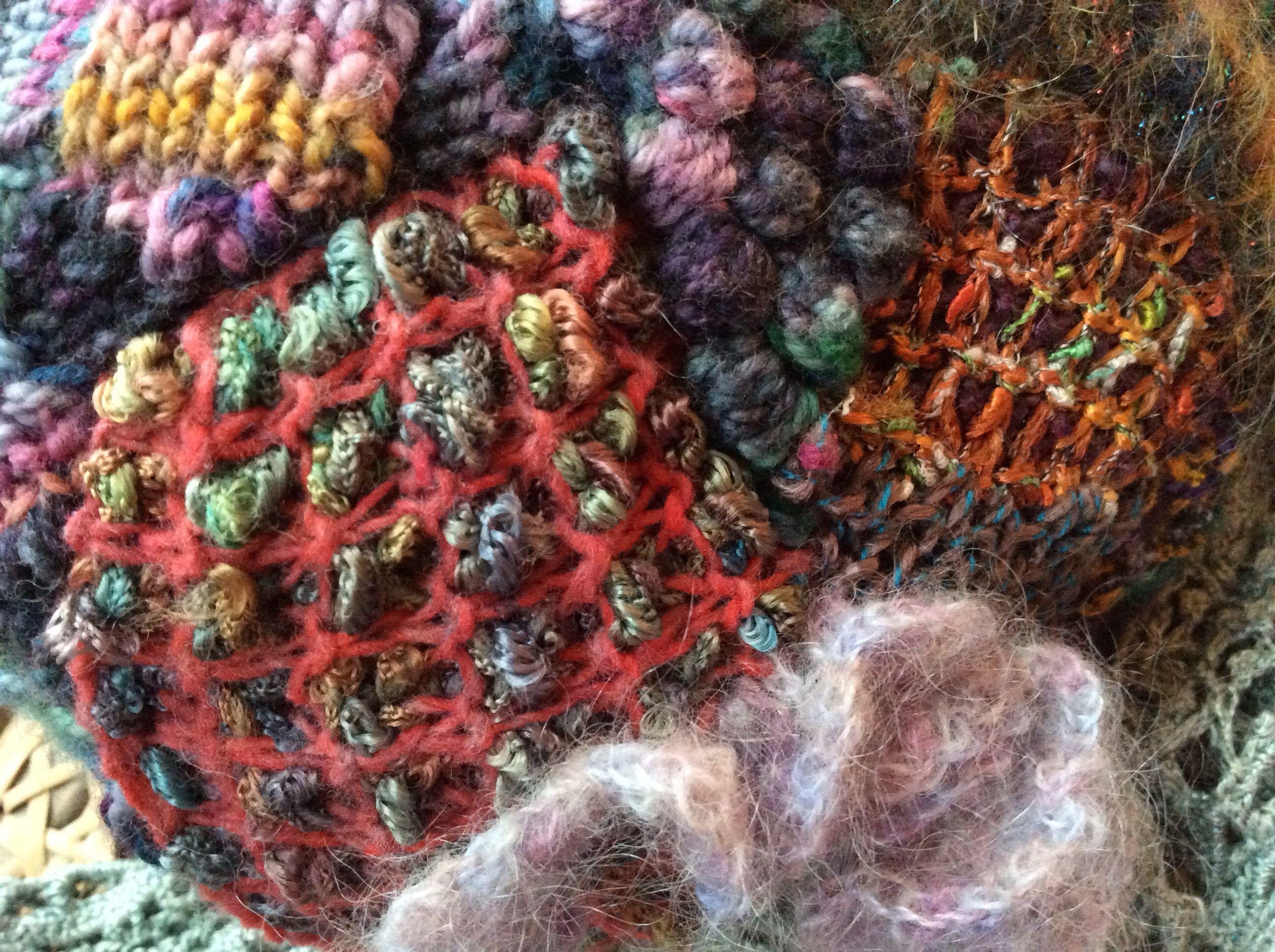 Textured freeform knitting   Knit.Art.Life   Pinterest   Crochet ...