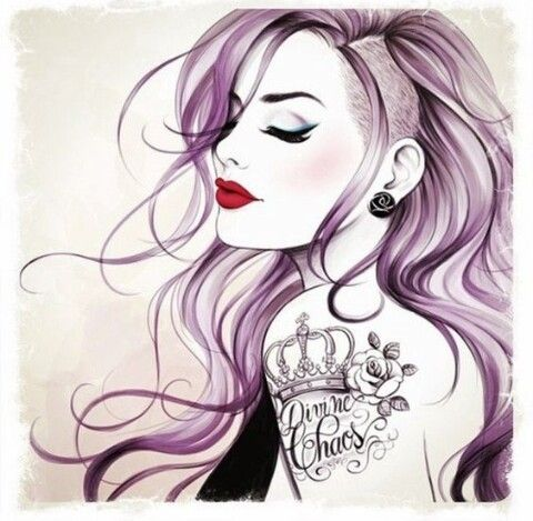 Imagen de girl, tattoo, and drawing