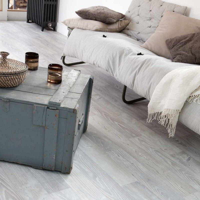 Neu PVC Boden Gerflor Primetex Concept 1681 Nordic White   2m   Fürs  KR13