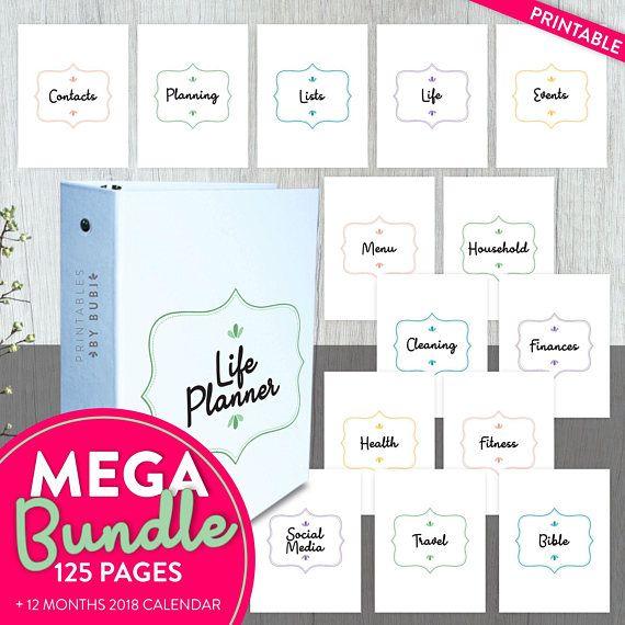 Household Binder, Life Planner, Home Planner, Printable
