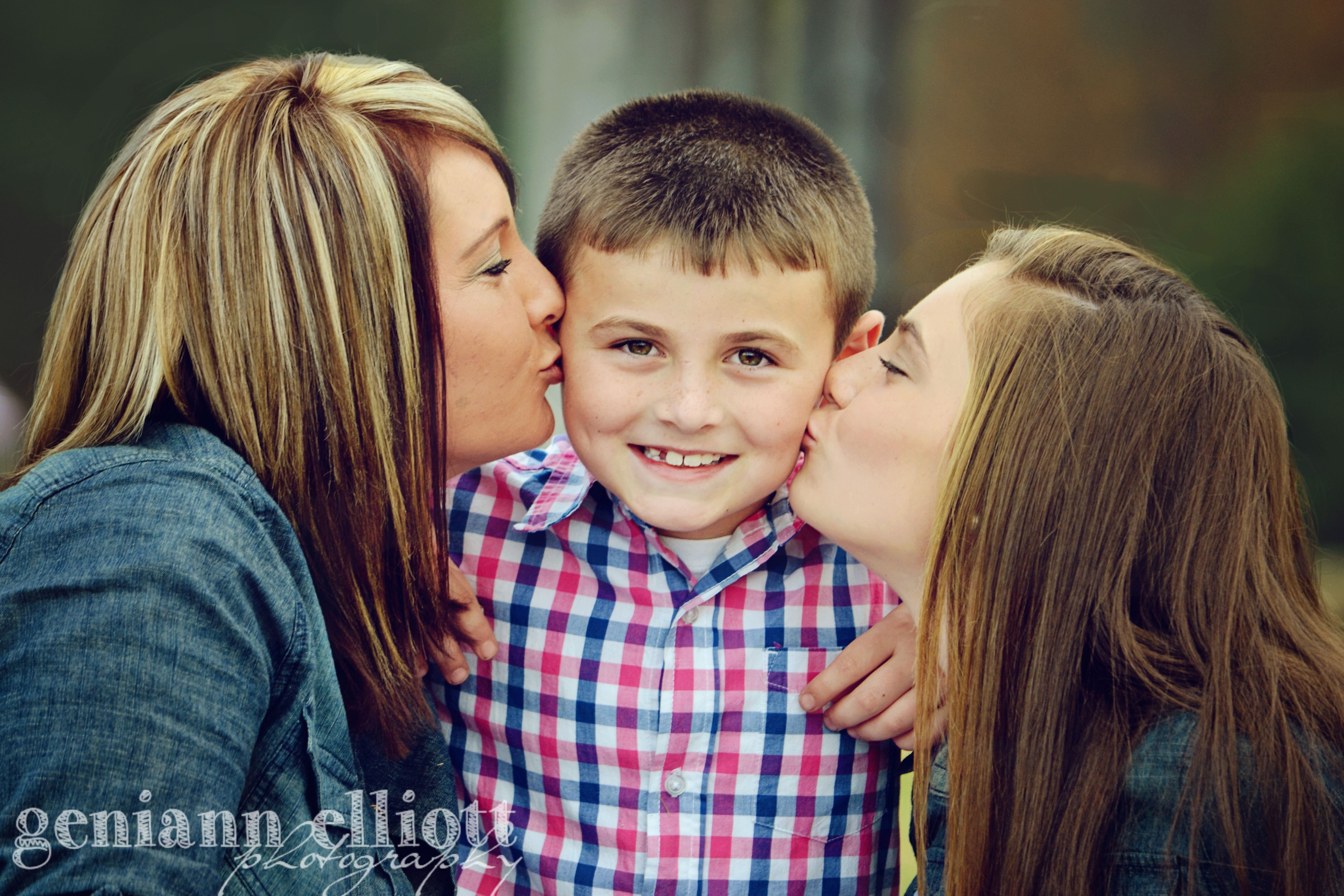 kids kisses mom and kids, kisses, stuck in the middle, only boy, little brother