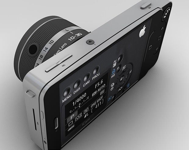 Apple Icam A Modular Concept Camera That Uses An Iphone For Brains Smartphone Photography Apple Technology Digital Camera