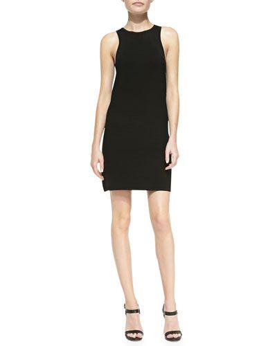 B2S9C Donna Karan Sleeveless Ribbed Shift Dress