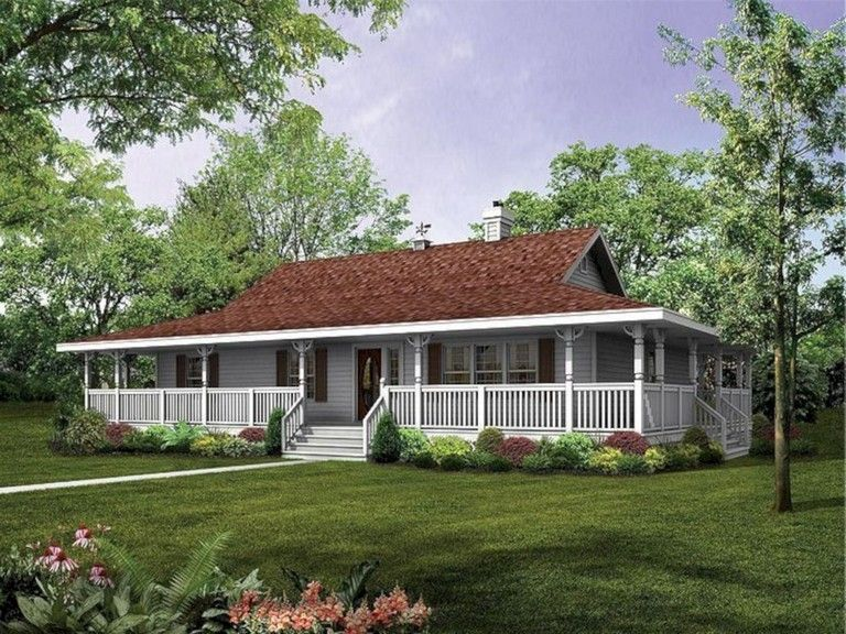 30 Top Country Farmhouse With Wrap Around Porch Ranch Style House Plans House With Porch Porch House Plans