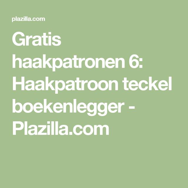 Gratis Haakpatronen 6 Haakpatroon Teckel Boekenlegger Plazilla