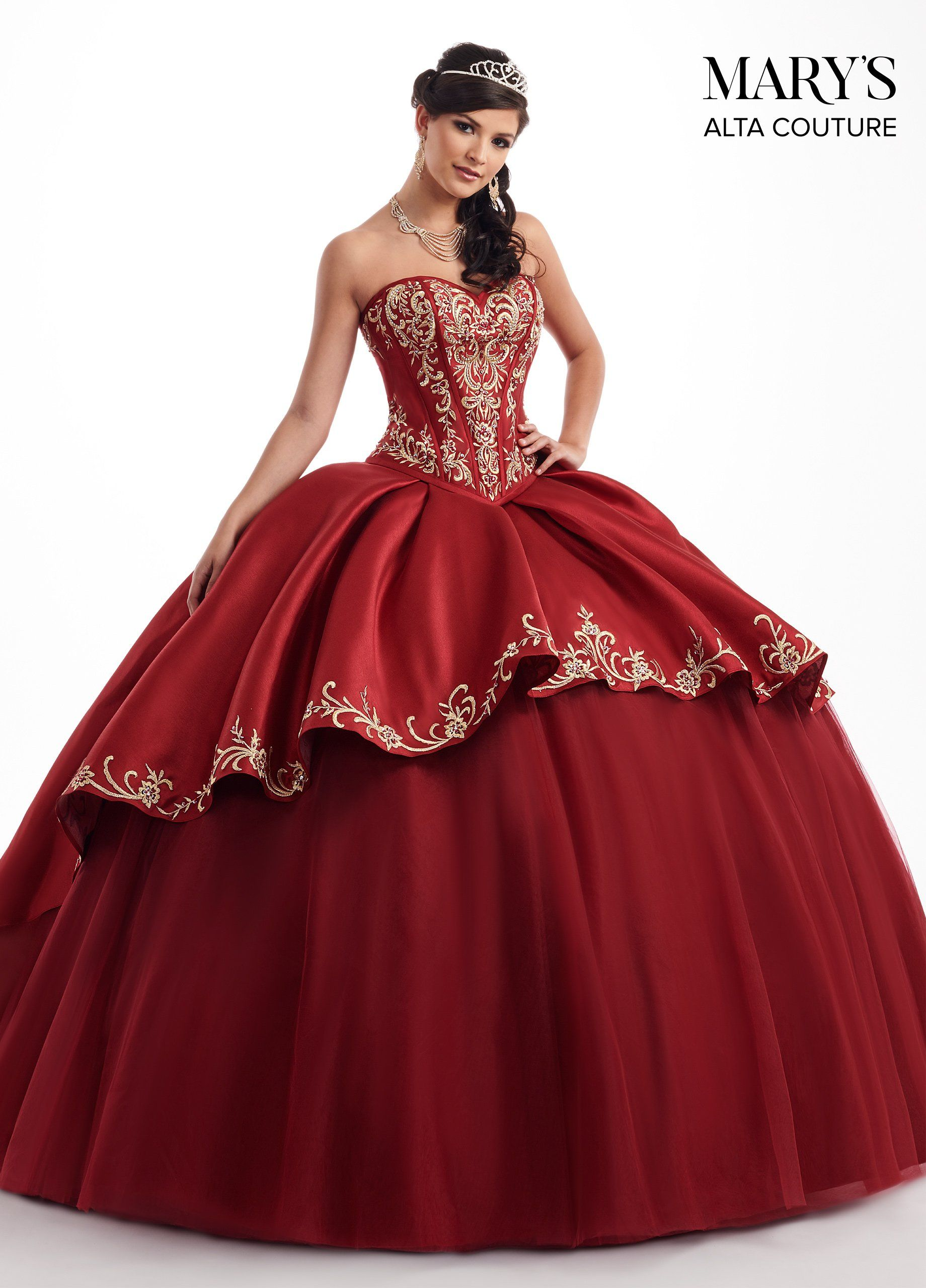 18f4e590c99 Red And White Quinceanera Dresses Charro