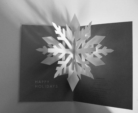 Pop up flocons fold and cut pinterest cards for Kirigami christmas card