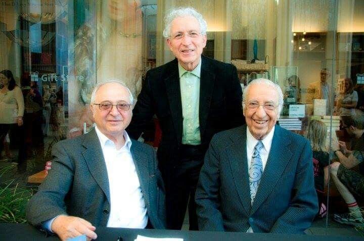 Iranian famous architects Left to right. Kamran Diba, Hosain Amanat, Hoshang Sayhoon