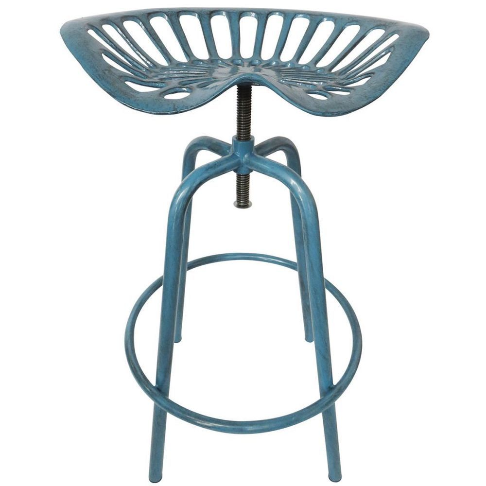 Designed Tractor Seat Chair Solid Blue Color Comfortable Made Of Cast Iron  Steel