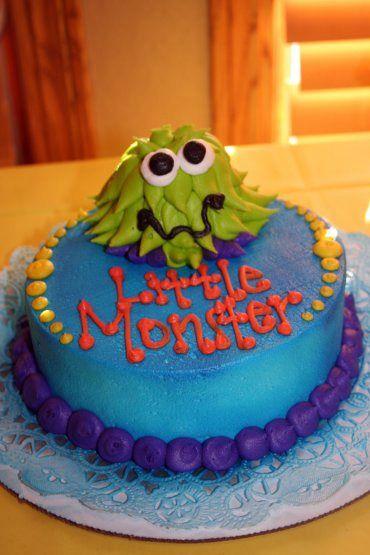 Little Boys Monster Theme Birthday Smash Cake Cheris Bakery Wichita KS