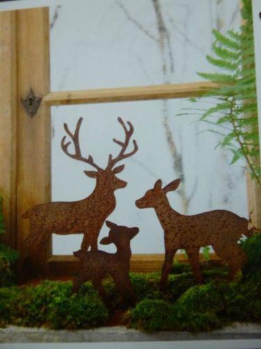 edelrost set gro hirsch reh kitz weihnachten deko rost. Black Bedroom Furniture Sets. Home Design Ideas