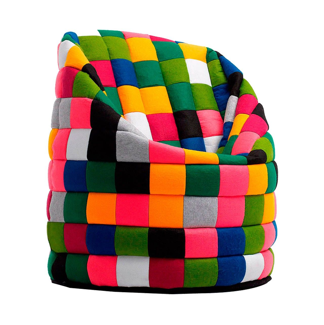 latest pops pouf in felt patchwork in the colors red blue multi colored greypurple in styrofoam. Black Bedroom Furniture Sets. Home Design Ideas