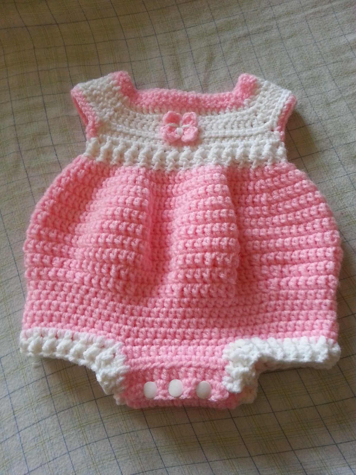 Newborn Romper By Joanne Holt - Free Crochet Pattern - (ravelry ...