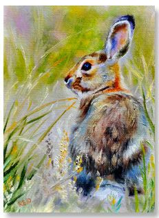 "24th Annual Holiday Miniatures Show | Sonia Reid | ""Bunny Side"" 