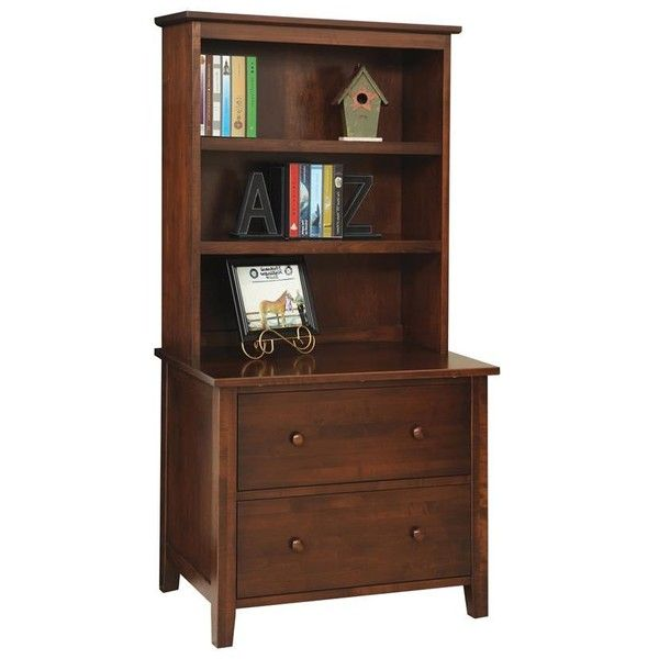 Superbe Amish Manhattan Lateral Filing Cabinet With Optional Bookshelf ($1,068) ❤  Liked On Polyvore Featuring
