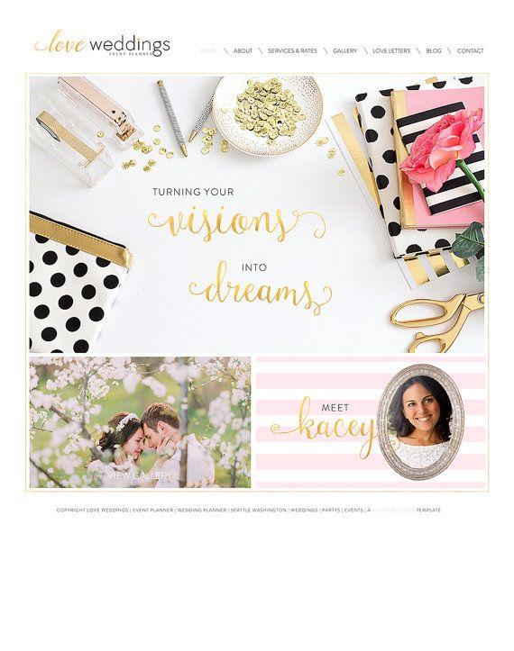 Wix Website Design Template Wedding By SunnyBlossomDesigns
