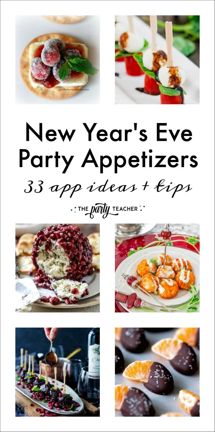 New Year S Eve Party Appetizers Dishes Party General Pinterest