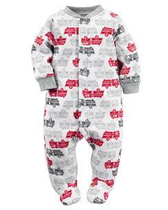 Fleece Snap Up Sleep Amp Play Baby Boy Pajamas Kids