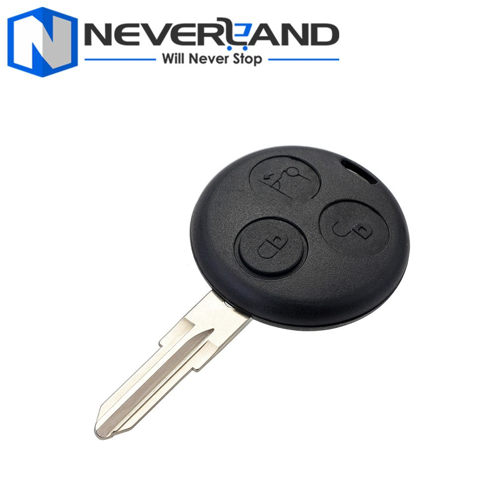 3 button remote uncut blade car key fob case shell for