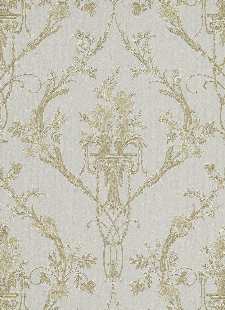 Vliestapete grau gold Barock Erismann 5921-29 Beautiful wallpaper - fliesen tapete küche