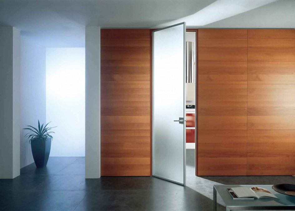 Stylish White Frosted Glass Swing Door Alumunium Frame Floor To
