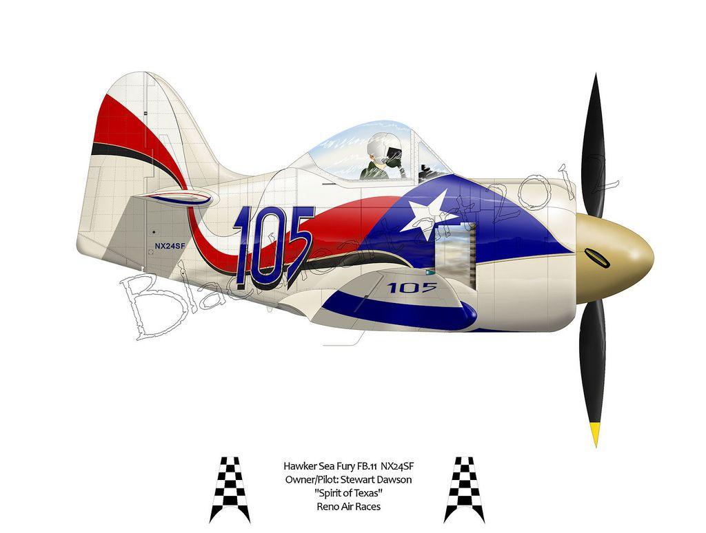 Spirit of Texas Air race, Cartoon airplane, Reno air races