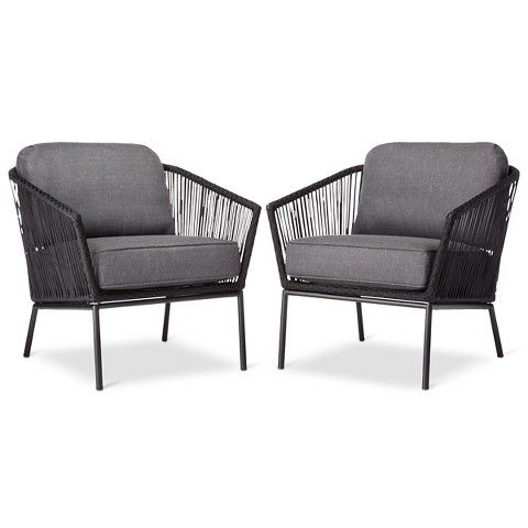 Target - Threshold Standish Patio Club Chair 2-Piece - $240  sc 1 st  Pinterest & Target - Threshold Standish Patio Club Chair 2-Piece - $240 ...