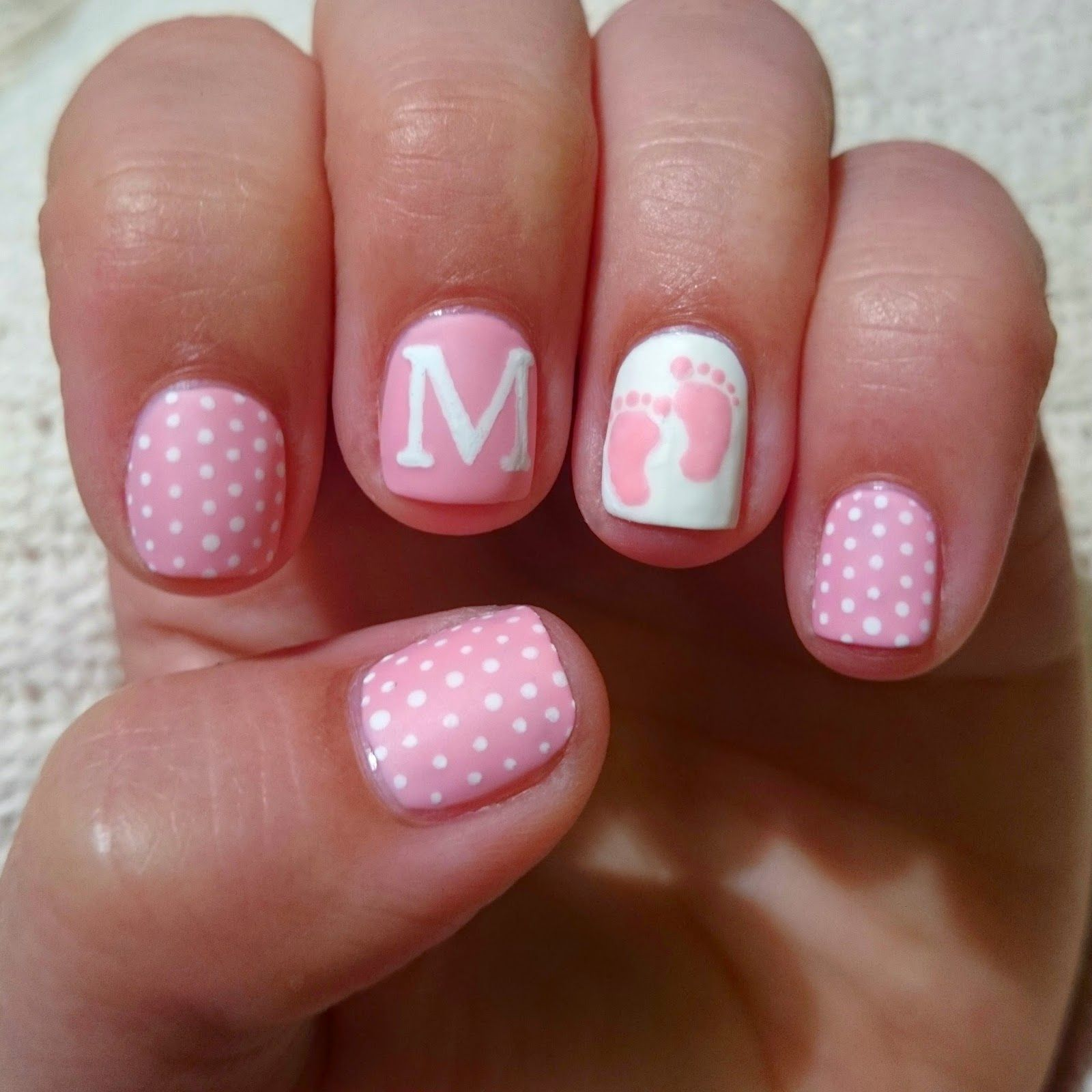 baby girl nails for baby shower - Little Girl Nail Design Ideas