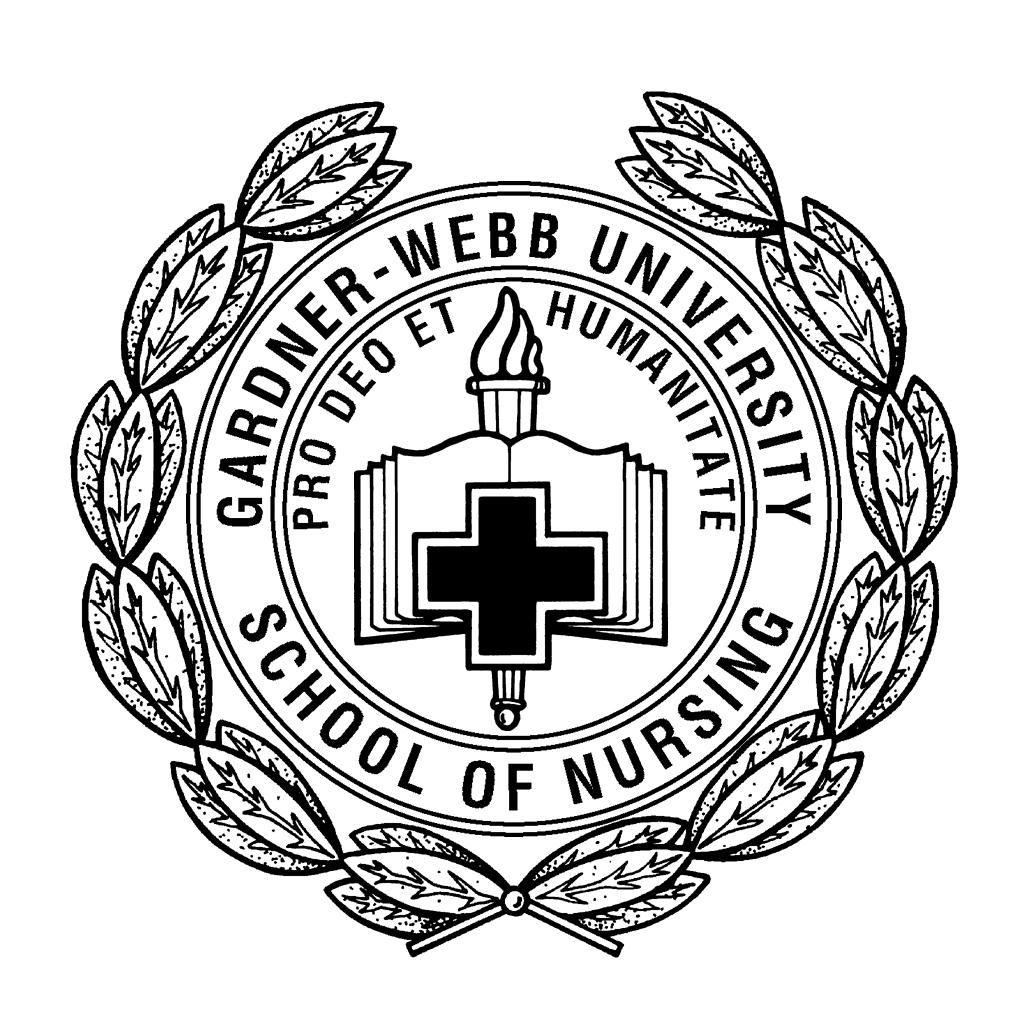 Gardnerwebb university nursing logo with images nurse