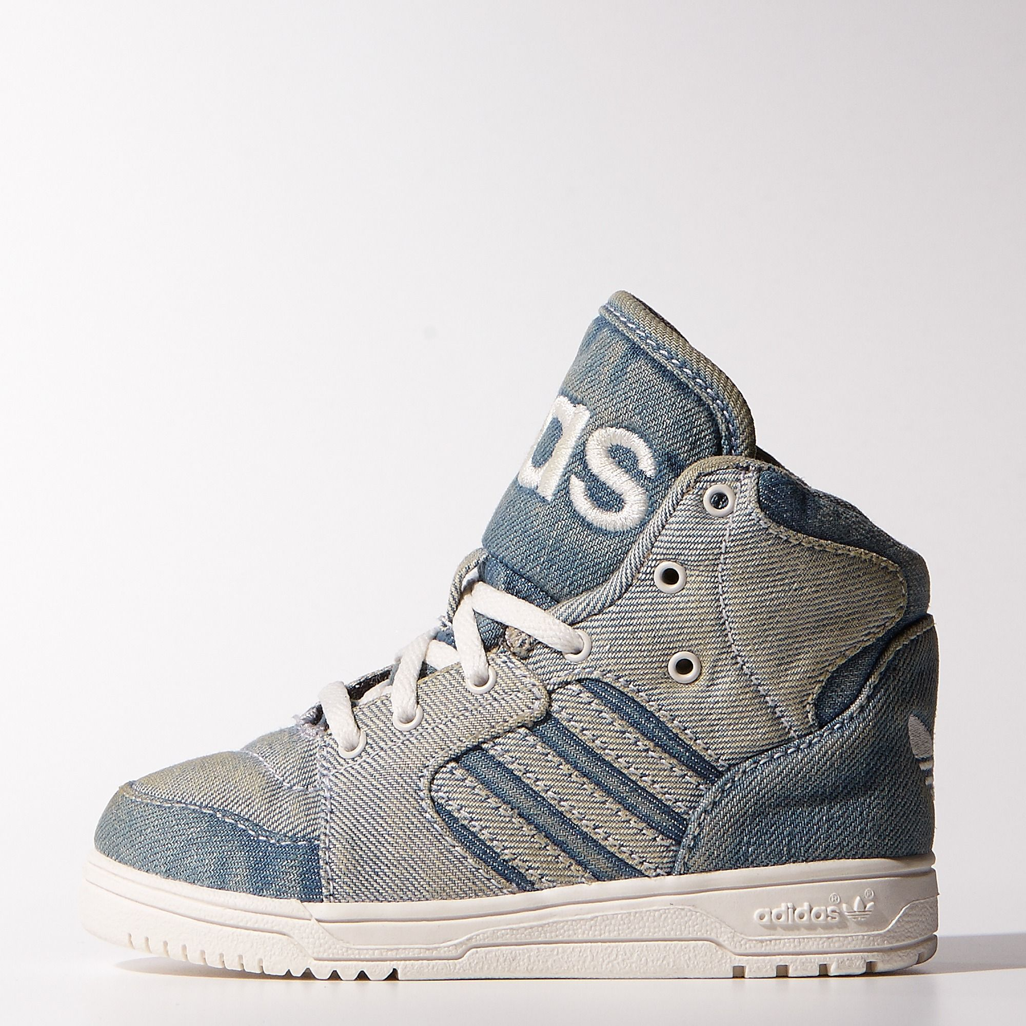 adidas jeremy scott js instinct hi denim trainers sneakers