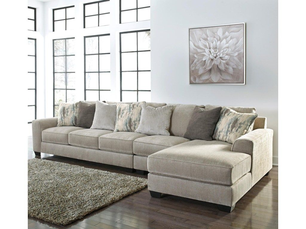 Ardsley Contemporary 3 Piece Sectional With Right Chaise By Benchcraft Ashley Furniture Sofas