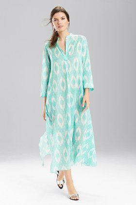 5aa4016d3c Natori Batik Caftan | COASTAL CAFTANS | Tunic tops, Dresses ...