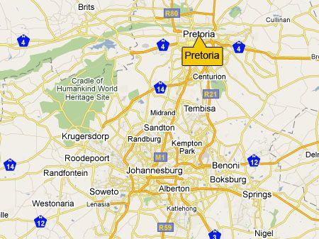 Pretoria map PRETORIA SOUTH AFRICA Pinterest Pretoria South