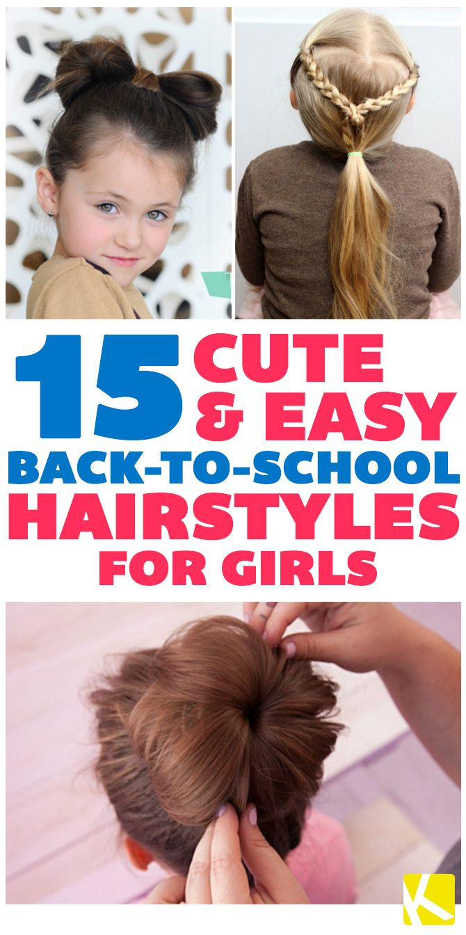 17 Fun \u0026 Easy Back,to,School Hairstyles for Girls