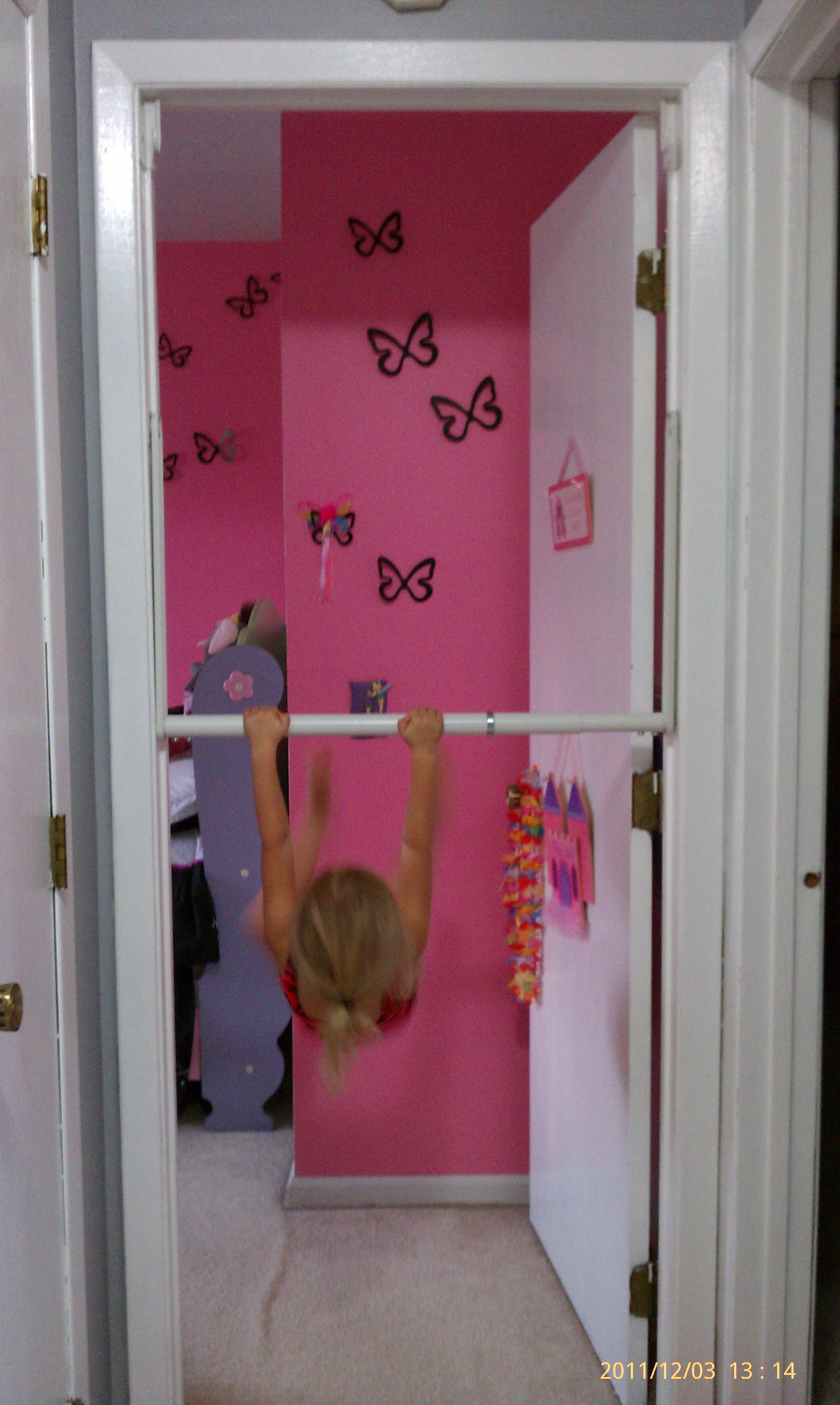 51 Ways To Diy The Bedroom Of Your Kids Dreams: Easy Way To Let Your Little Gymnast Practice The Bar At