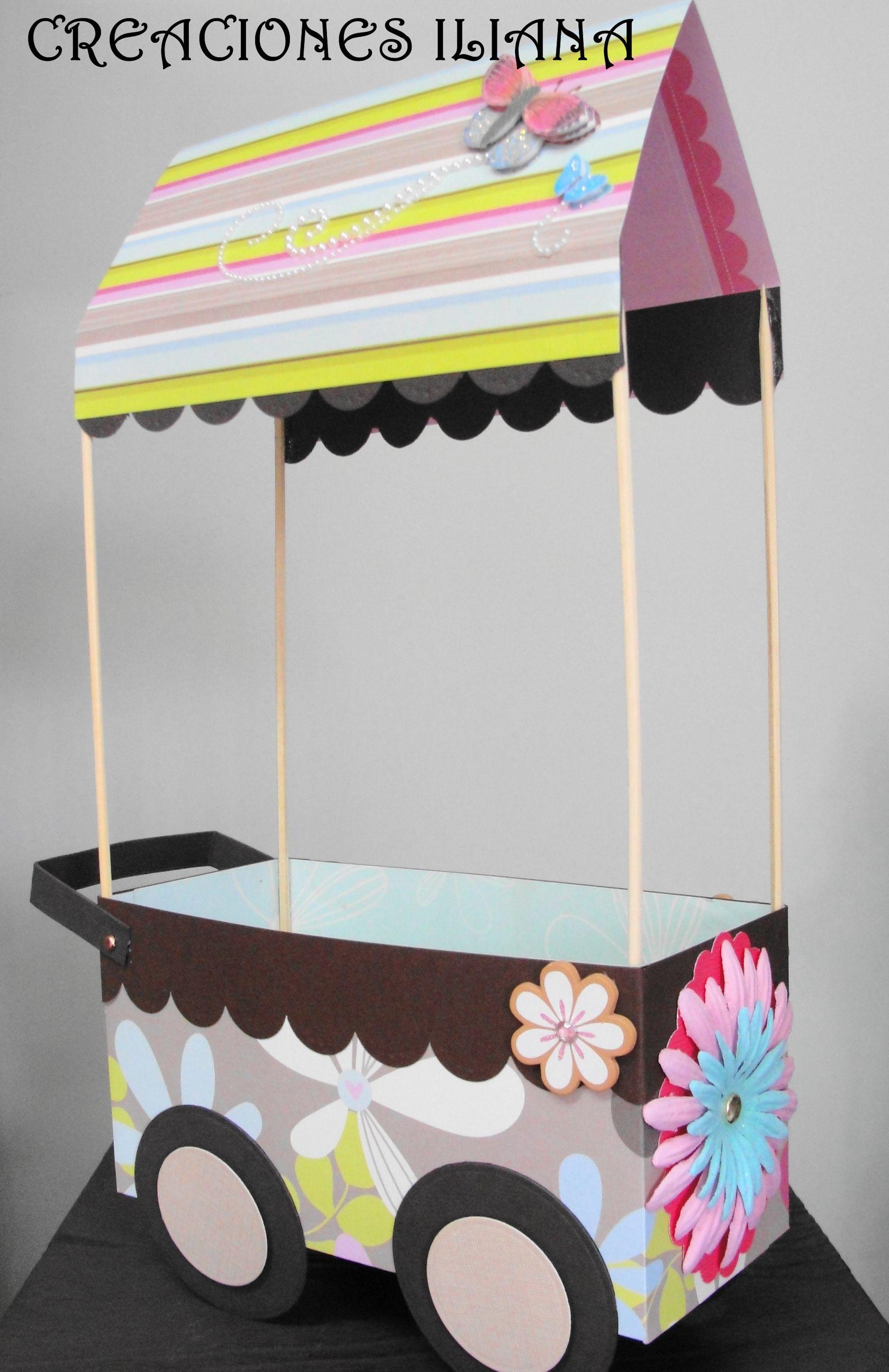 Carrito dulcero dulceros pinterest dulceros fiestas - Como hacer un carrito de chuches paso a paso ...