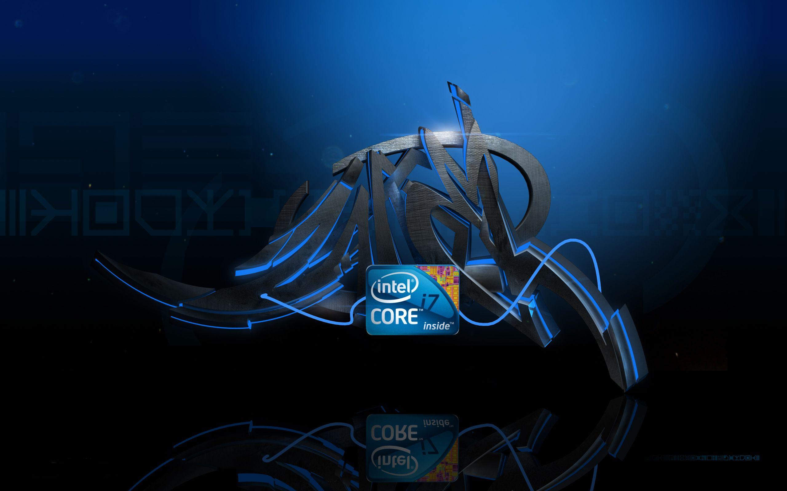 Intel I7 Technology Graffiti Wallpaper Computer