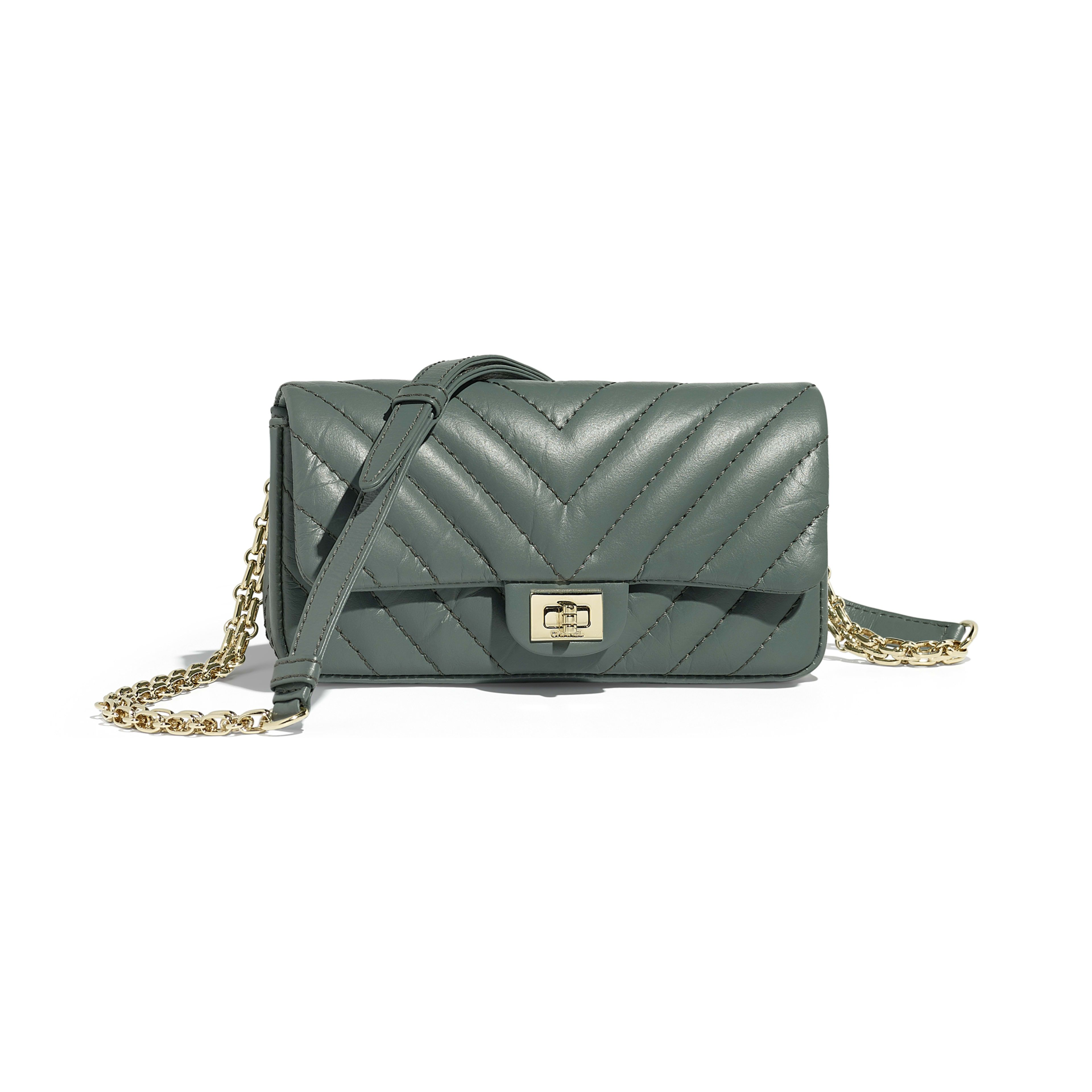 884843142c724b Waist Bag - Green - Aged Calfskin & Gold-Tone Metal - Default view - see  full sized version
