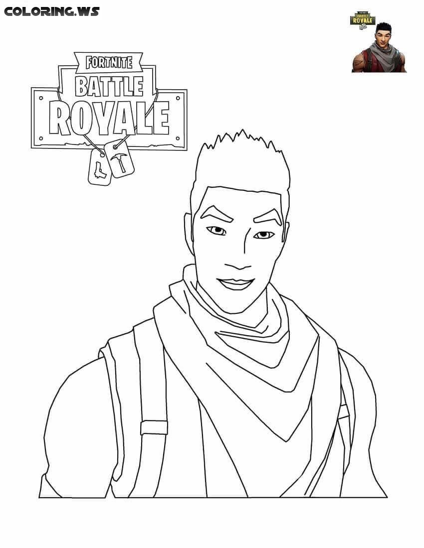 Fortnite Shock Trooper Coloring Pages Coloringpage