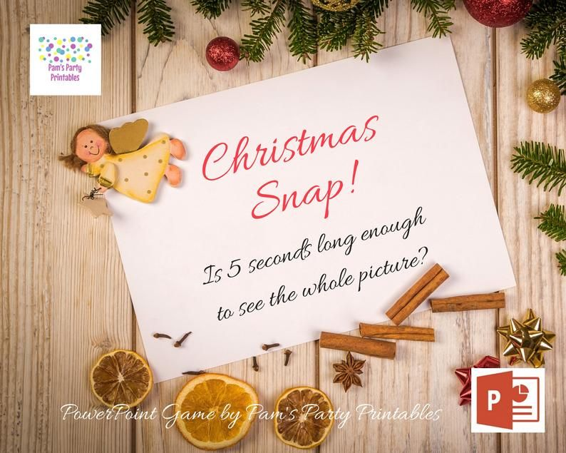 Virtual Game Christmas Snap Powerpoint Game Interactive Etsy In 2020 Fun Christmas Games Powerpoint Games Christmas Games
