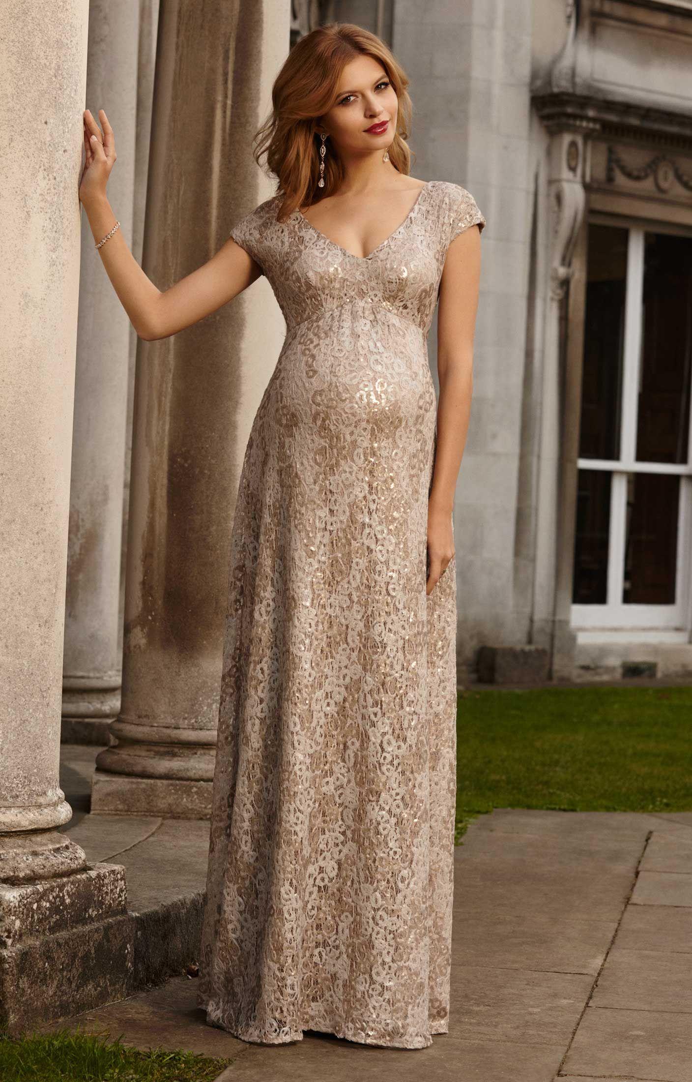 4a87a6ffa Carmen Maternity Gown Gold Rush by Tiffany Rose