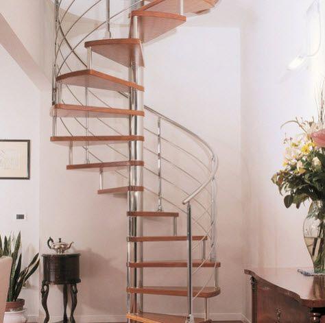 Disenos De Escalera En Espiral O Caracol De Metal Y Madera