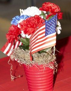 Table Decorations Patriotic Centerpieces Party Places Veterans Day