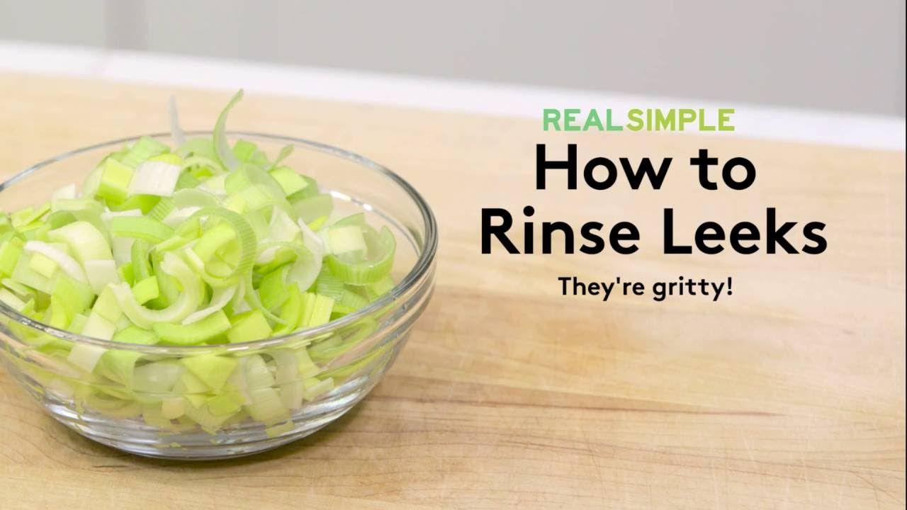 How to prepare leeks real simple leeks basic recipes