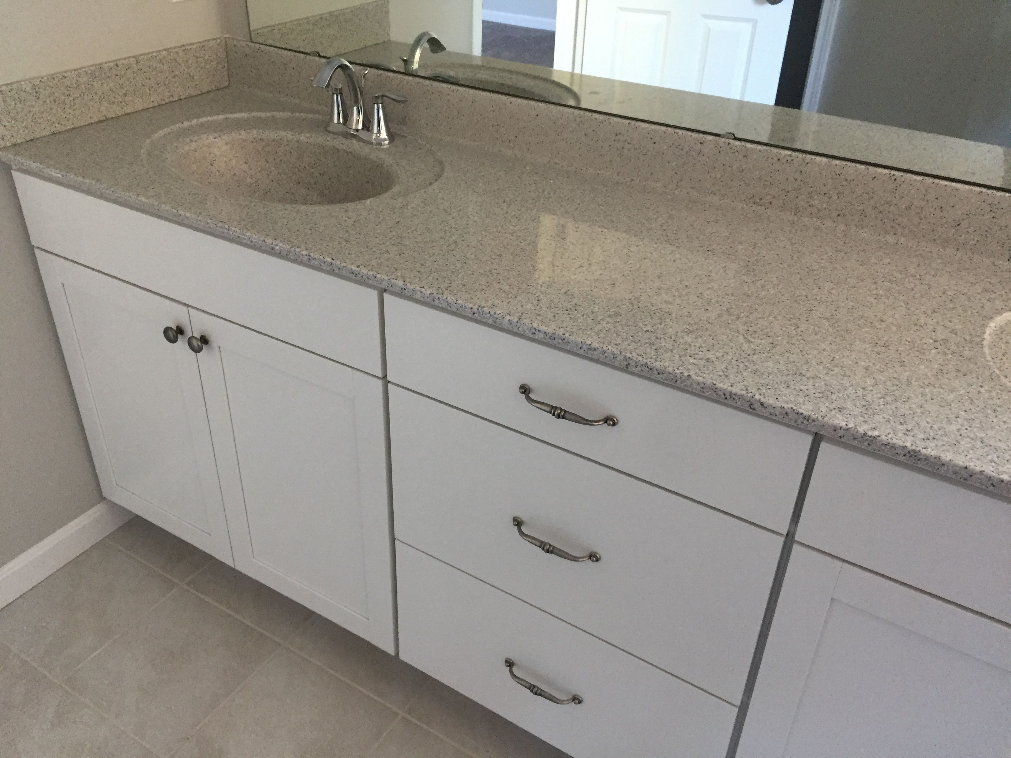 Brellin White Cabinets With 210 Premium Cultured Marble Counter Top Cultured Marble Vanity Tops Marble Vanity Tops White Vanity Bathroom