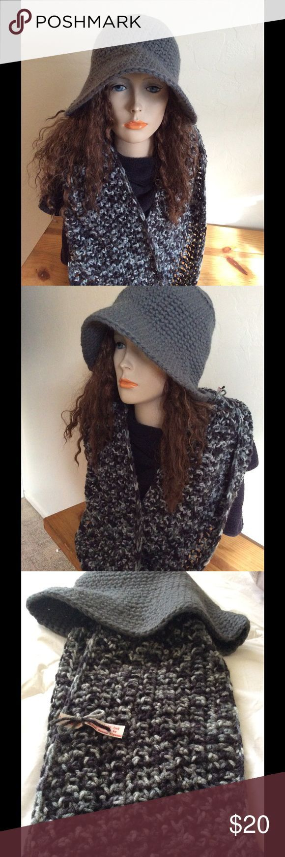 #Bucket #Crochet #hat #Hook #Hot #Infinity #Rainy Day Outfit with hat #scarf #Set Bucket Hat and Infinity Scarf Hot off the crochet hook this hat and scarf set is...        Bucket Hat and Infinity Scarf Hot off the crochet hook this hat and scarf set is pretty impressive. It is part of my new line for 2017. Everyone needs a warm bucket hat and scarf for those frigid windy, rainy, icy and snowy days. Here it is in many shades of grey. Accessories Hats #rainydayoutfitforwork