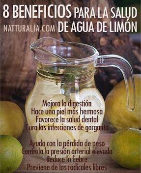 8 beneficios para la salud de agua con limón
