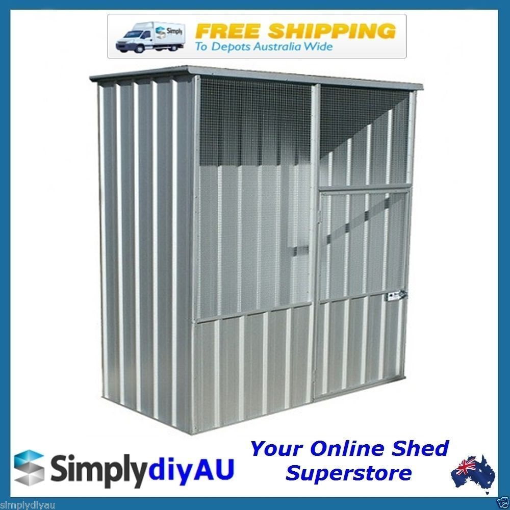 Absco Flat Roof Aviary 1 5m X 0 78m Zincalume Brand New Easy Snaptite Assembly Flat Roof Aviary Roof