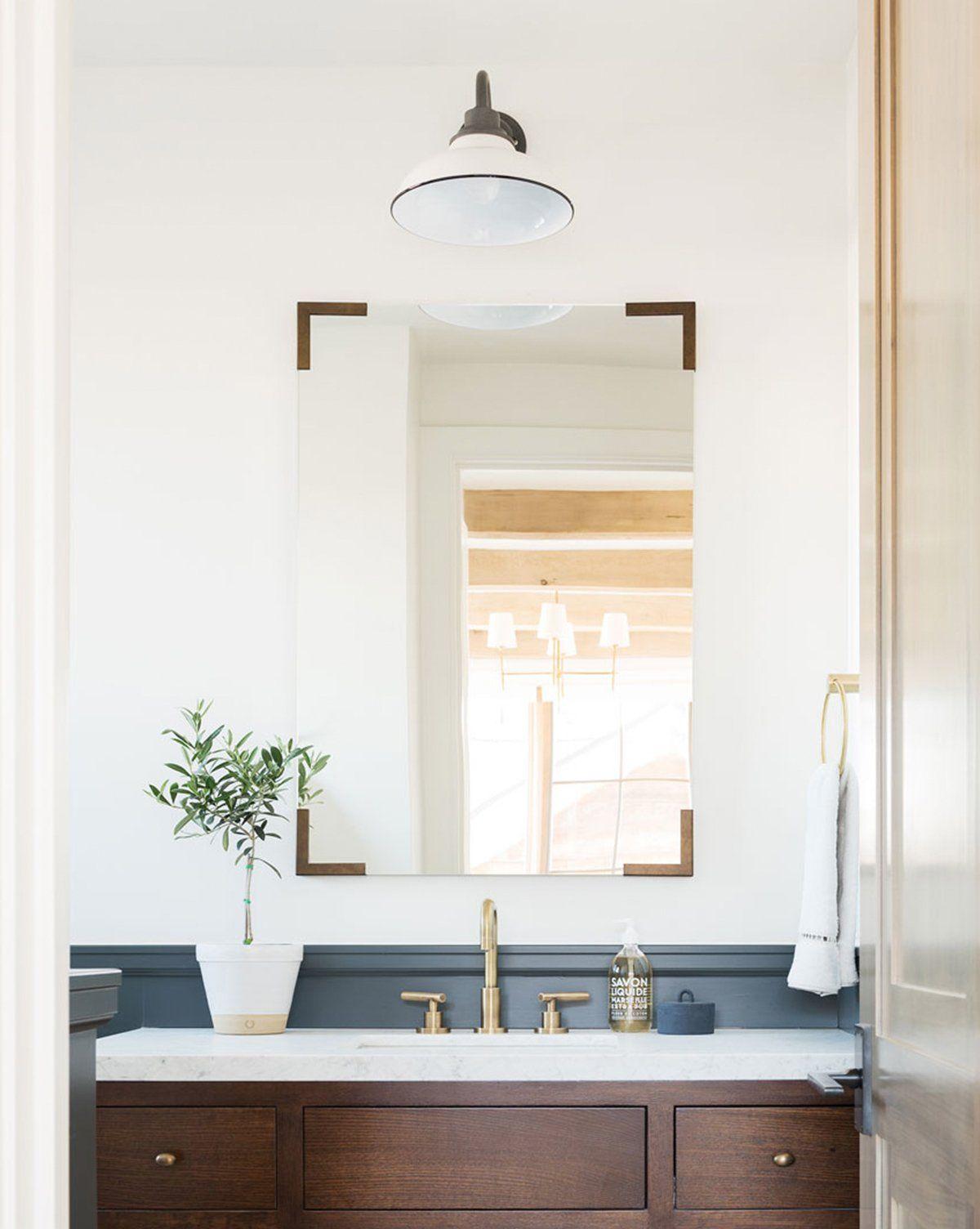 Ballard Mirror Brass In 2020 Bathroom Mirror Lights Modern
